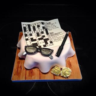 Seventieth Crossword Cake