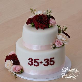 70th birthday cake - Cake by Dadka Cakes