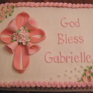 Baptism cake - Cake by Judy Remaly