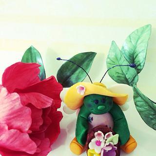 Garden Bug  - Cake by Audrey