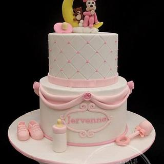 Baby Minnie sitting on the Moon - Cake by weennee