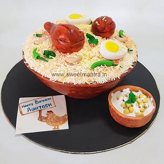 Fine Chicken Lovers Cake 1 Cake Cakesdecor Birthday Cards Printable Inklcafe Filternl