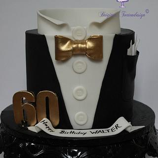 Dress suit cake 60. Birthday