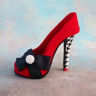 Stiletto shoe cake topper