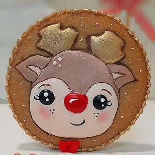 Cute reindeer by Gele's Cookies