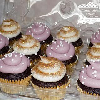 Gold & Mauve Cupcakes