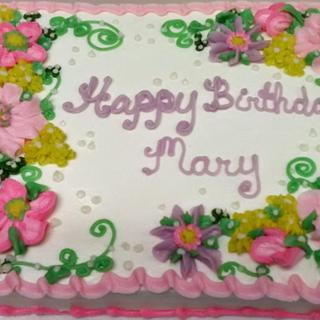 Portrait of a buttercream floral cake