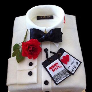 Jame's Bond Shirt Cake