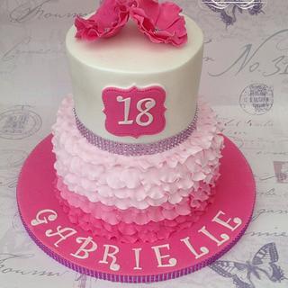 Pink Petal Cake