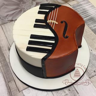 Piano & Cello cake