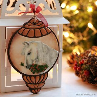 Christmas Horse Cookie Ornament