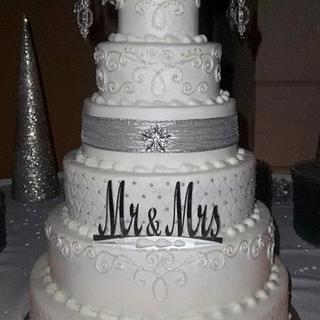New Year's Eve Wedding Cake  - Cake by Cakes A Ton