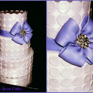 Purple Polka Dot Wedding Cake - Cake by Tyla Mann