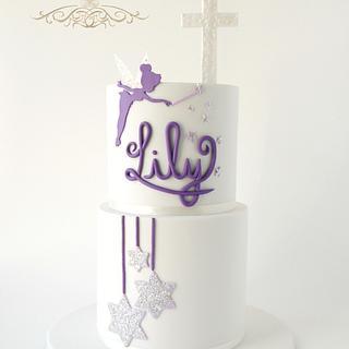 Tinkerbell Baptism Cake