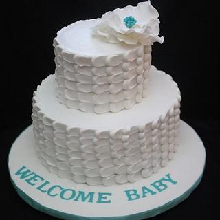 Baby shower cake - Cake by Virginia
