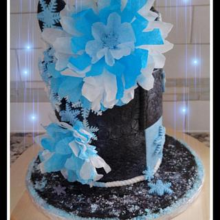 """Winter Themed Cake - Cake by June (""""Clarky's Cakes"""")"""