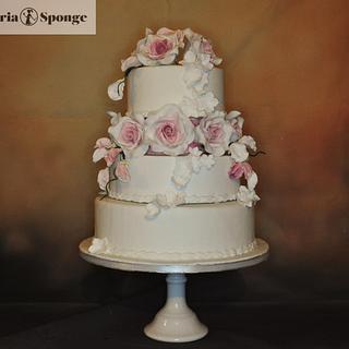 Elegant Rose, floral cascade