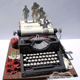 A magic typewriter from the Wonderful World of Oz - Cake by Angela Penta