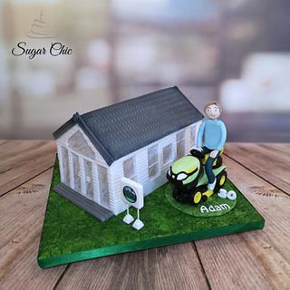 x Happy Camper Birthday Cake x - Cake by Sugar Chic