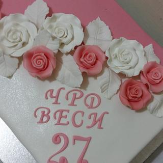 Cake with roses - Cake by Iva Halacheva