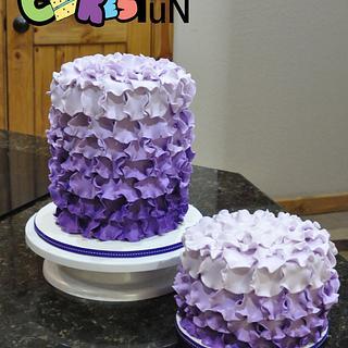 Purple ombré petals