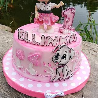 Cute cake for girls