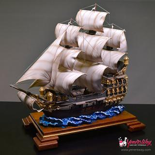 3D Galleon Ship Cake