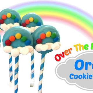 OVER THE RAINBOW OREO COOKIE POPS!