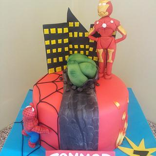 super hero birthday cake
