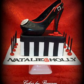 Natalie and Holly's Shoe Cake