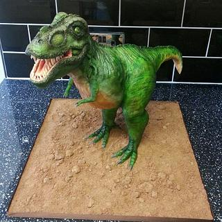 T Rex cake - Cake by Di's Delights