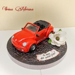 Volkswagen Beetle Convertible Cake