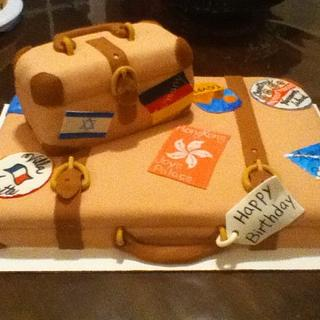 luggage cake - Cake by Cassandrascakes