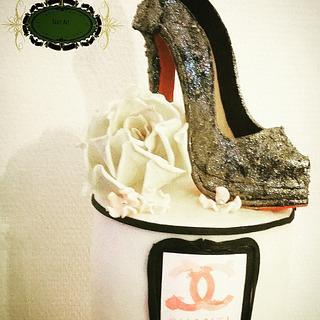 Chanel pump cake