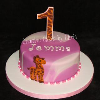 Camo pink and Giraffe - Cake by Creative Cakes by Chris