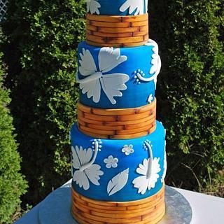Tall Hibiscus Cake