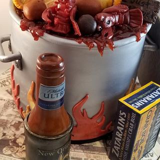Crawfish Boil Pot groom's cake