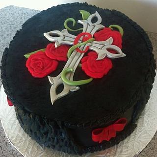 Romantic Goth - Cake by GrandmaTilliesBakery
