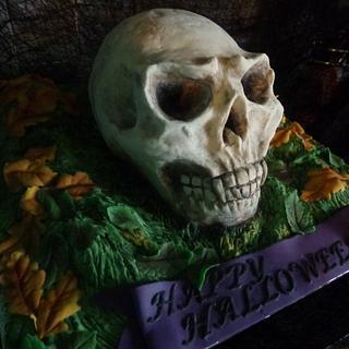 vampire skull cake