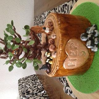 Forest theme cake