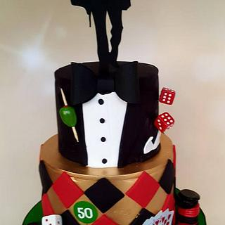 Roger - James Bond Birthday Cake