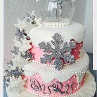 Snowflakes cake ❄️❄️