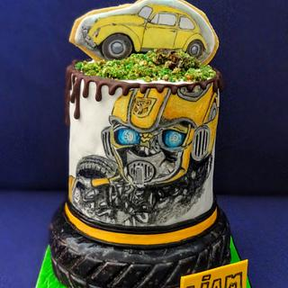 bumblebee cake - Cake by rantingfrenchmama