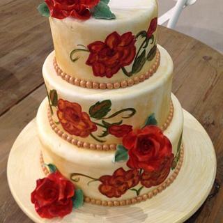 Hand Painting Cake!!!