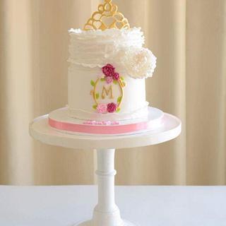 Tiara peony cake