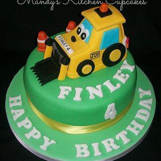JCB Digger Cake - Cake by Mandy Morris