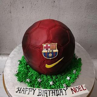 Football Cake!  - Cake by GorgeousCakesBLR