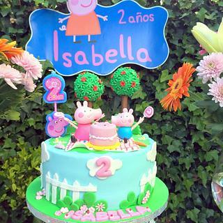 PEPA PIG CANDY CAKE - Cake by teresagil