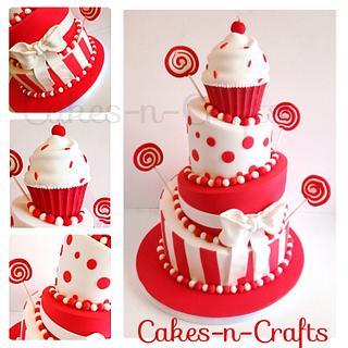 Topsy turvy Candy wedding cake