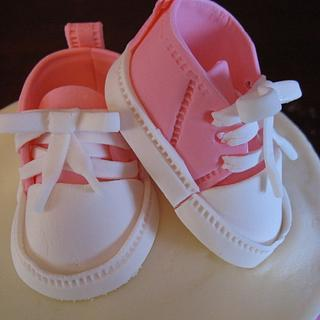 Baby Shoes Cake - Cake by Taste of Love Bakery
